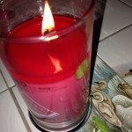 Diamond Candle - Water Melon Ridge - NO RING!