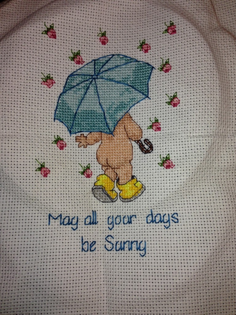 Jiffy, Cross Stitch, May All of Your Days, Finished!